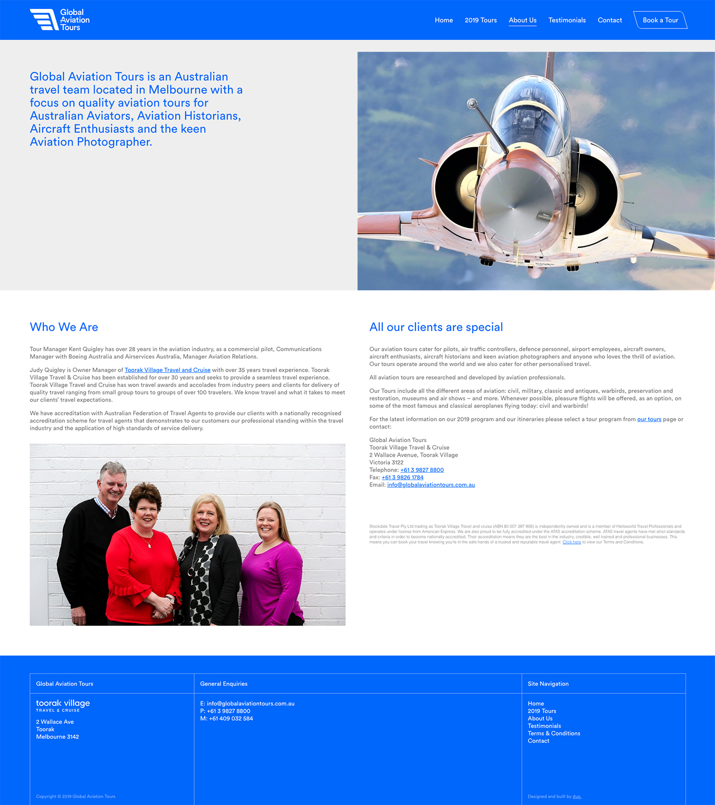 Global Aviation Tours - About Page