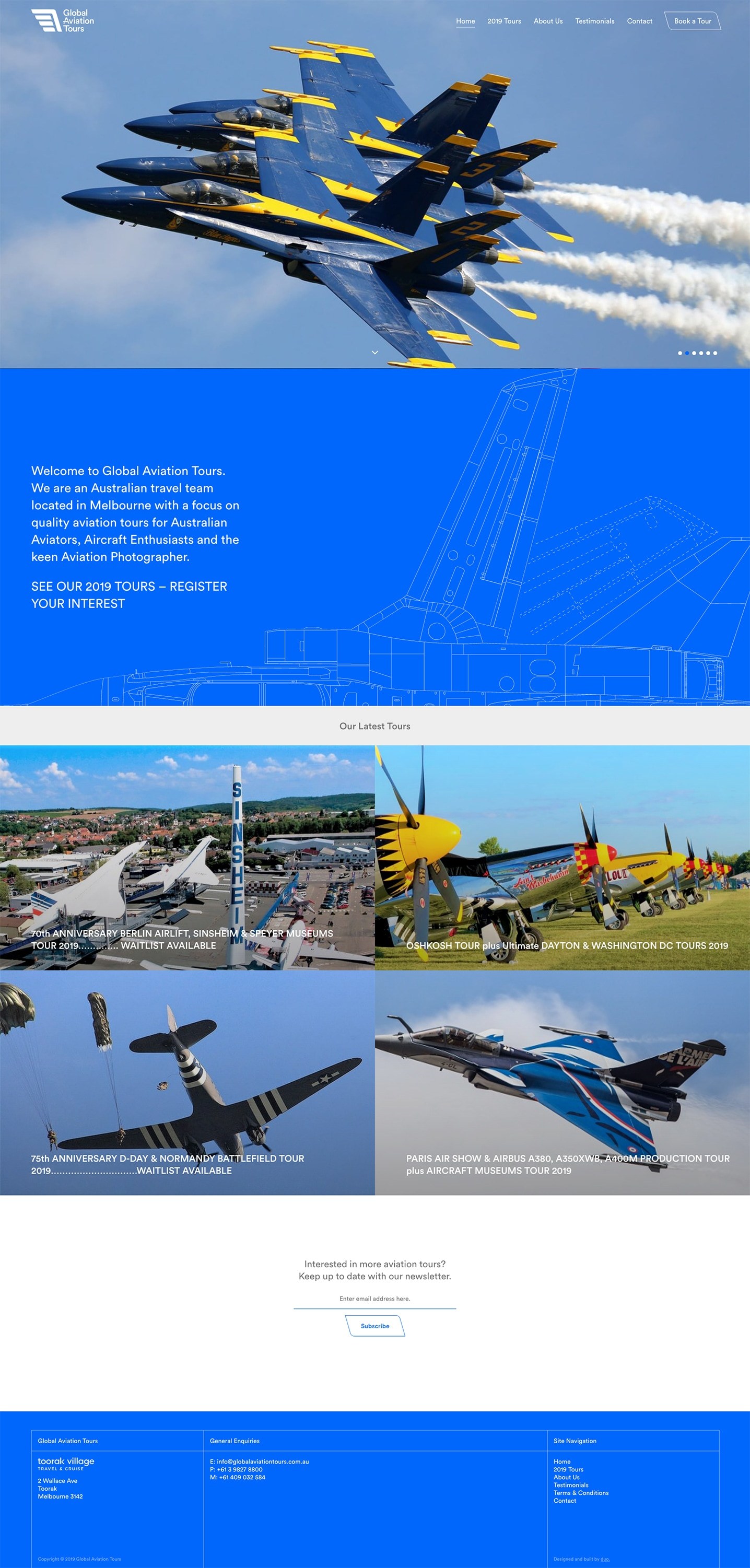 Global Aviation Tours - Homepage