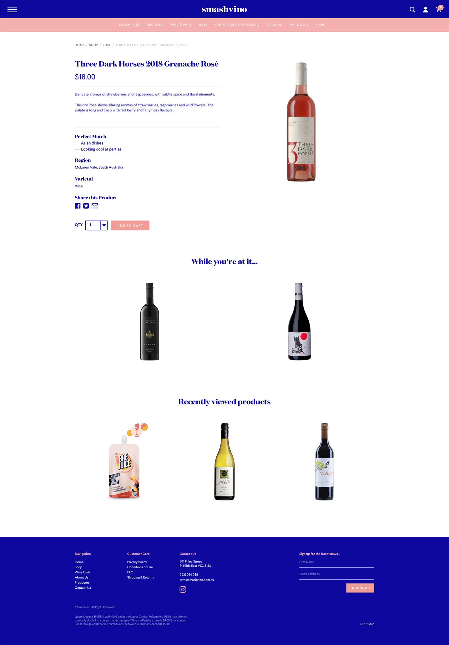 Smash Vino - Product Page