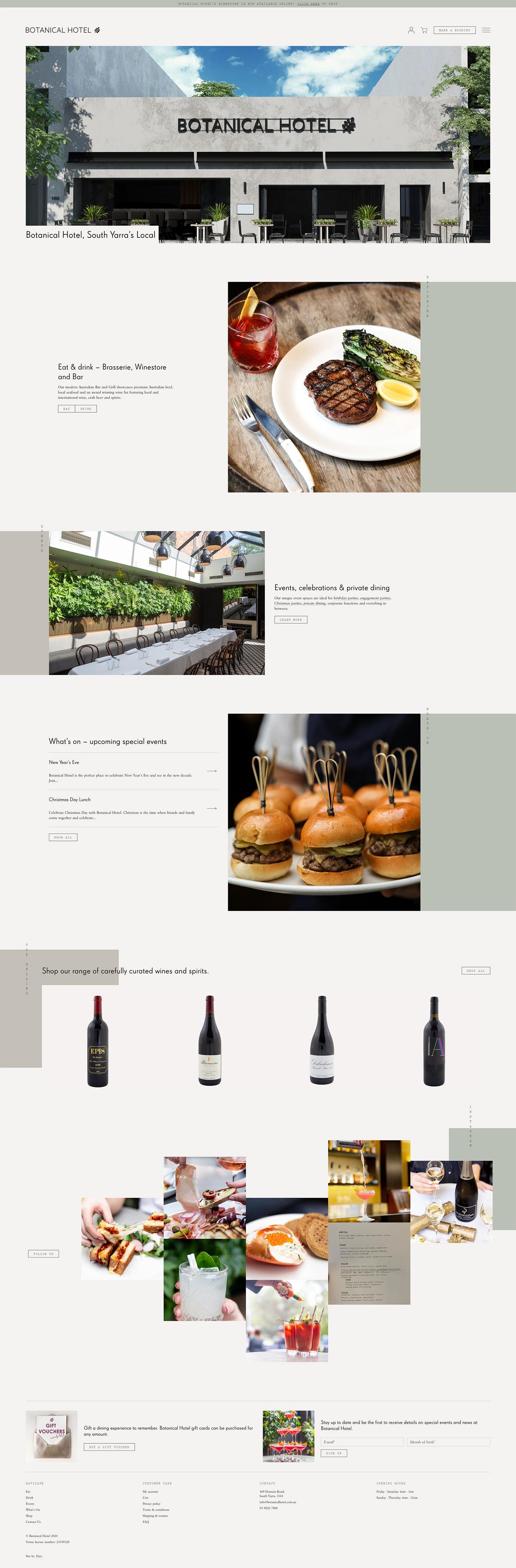 Botanical Hotel — Homepage